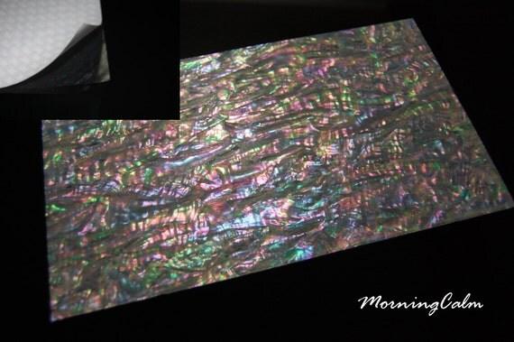 Feuille de placage adh sif large renforc e prisme abalone - Feuille de placage ...