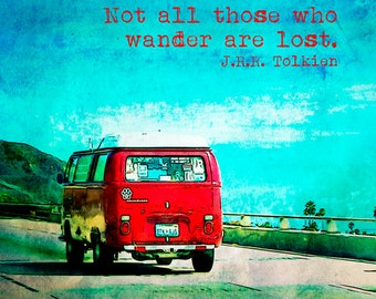 72 Volkswagon Van on the Road Fine Art Photographic Print in Various Sizes