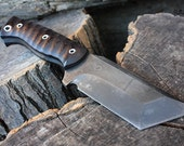 """Handcrafted FOF """"Suture"""" Full tang fixed blade Tanto and Custom Tactical knife"""