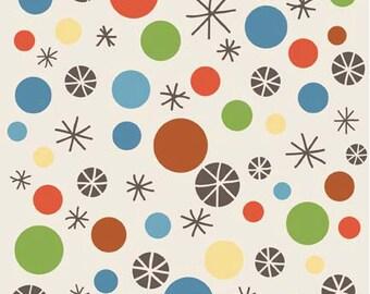 Scoot Dots Cream by Deena Rutter, Riley Blake Designs Fat Quarter Cut, Cream Fabric