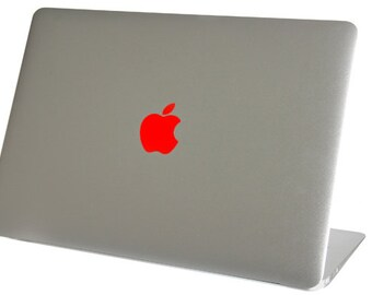 Red Color Changer Macbook Air Logo Vinyl Sticker Decal Mac Apple Laptop iPad