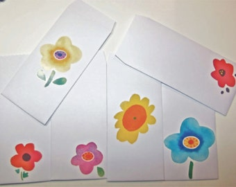 6 Paper Cash Envelopes. Money Envelopes.
