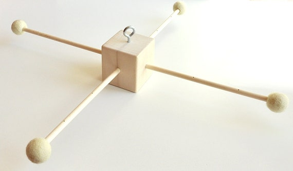 wooden baby mobile hanger 2