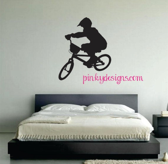 BMX Rider Wall Decal by PinkyDesign on Etsy