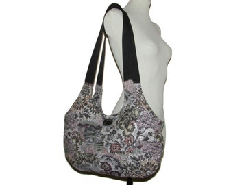 63- Fantasy Bag, Floral, Handmade