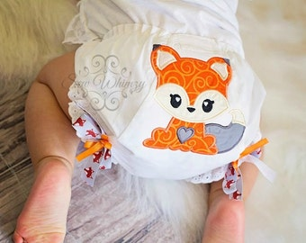 Fox baby bloomers or diaper cover