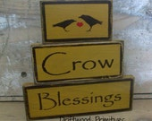 Primitive Wooden Blocks, Crow Blessings Primitive Blocks, Primitive  block set, HAFAIR