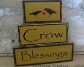 Primitive Wooden Blocks, Crow Blessings Primitive Blocks, Primitive  block set, HAFAIR