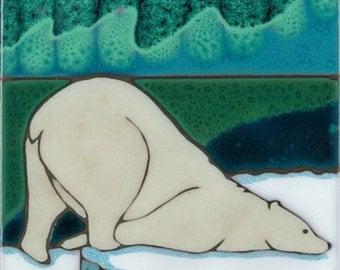 Magnet Aurora Borealis Polar Bear from my Original Art