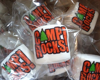 12 jumbo custom logo personalized marshmallows party favors include your name or anything you can dream up camping party idea