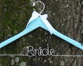 SOMETHING BLUE Personalized Keepsake Bridal Hanger, BLUE Bridal Shower Gift idea,Custom Made Wedding Hangers with Names, Wedding Photo Props