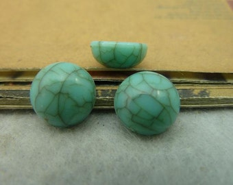 50PCS turquoise round resin cabochon 12mm - Wc3926