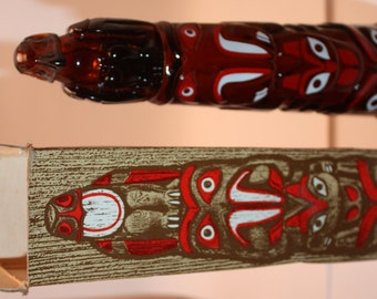 Vintage Collectible Avon Totem Pole With Deep Woods After Shave Complete With Original Box-Excellent, Collectible, Home, Native American