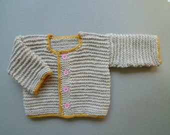 Knit baby sweater,baby cardigan, Free Shipping