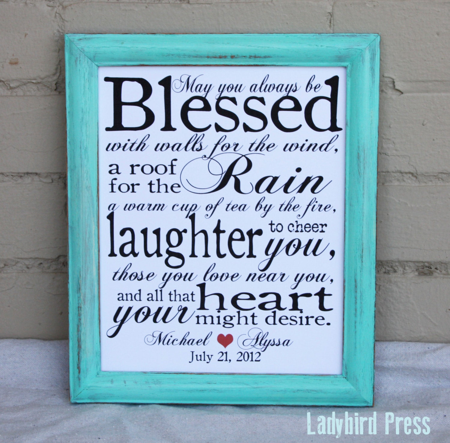 Irish Love Quotes Wedding Printable Wedding Gift Print Decor Irish Blessing Pdf