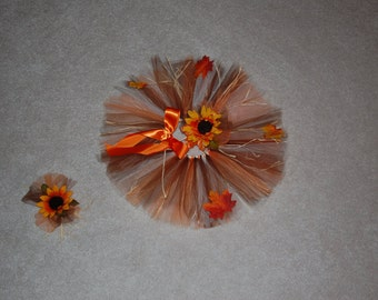 Scarecrow Halloween Tutu Set-Tutu and matching headband. Size 0-4T