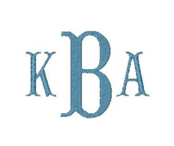 victorian monogram embroidery font instant download