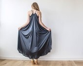 Halter maxi black dress, Floor length black dress