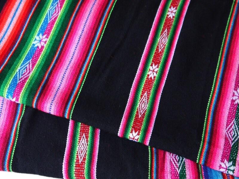 Am rica del sur tela peruana aguayo tejido textil rayas de for Telas del sur