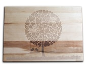 Personalized Cutting Board Custom Cutting Board 10x14 Maple Laser Engraved