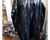 Shiney Slick Black Coat Jacket by Dennis Basso - Patent Leather - Size  1X- CLO-028a-110413020