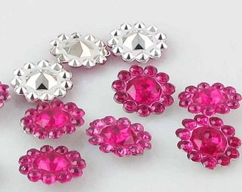 Hot Pink Flower Embellishment for Scrapbooking,Layouts,Mini Albums,Altered Art,Craft Projects,Hairbows,Flower Centers