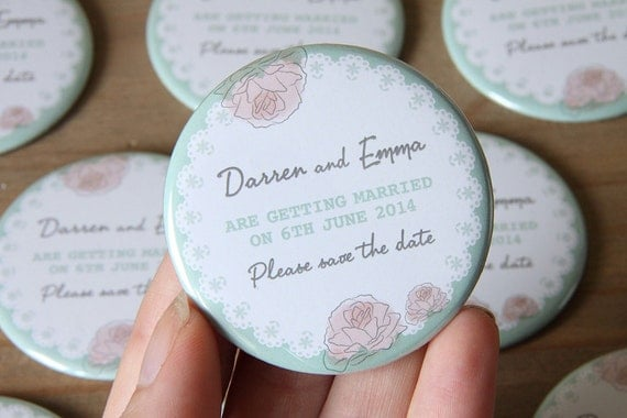 ROSE FLORAL design - Save the Date Magnets x 40