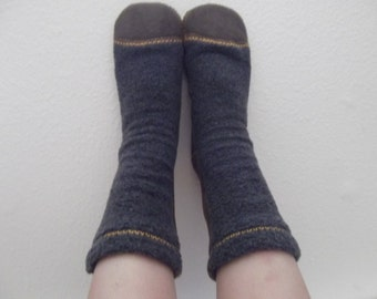 Snow Toes Fleece Slipper Socks (Choose from 18 Colors)  Adult Sizes