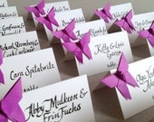 Origami Butterfly Place Cards, Wedding Escort Cards - Favor sets of 20 -any color paper
