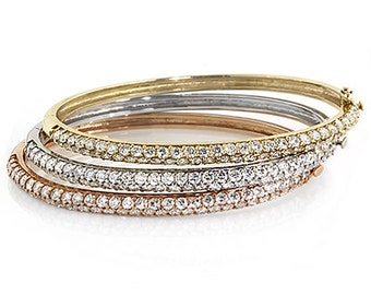 Gorgeous set of Diamond Bangles