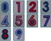 Iron On Numbers Fabric Applique Patch - Embroidered Numbers 5.50 cm 2.16 inches