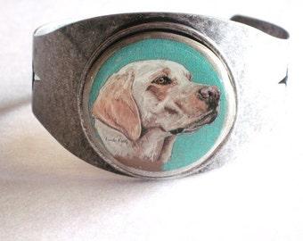 labrador retriever original wearable art bracelet