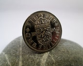 Men's Coin Cufflinks, Wedding Cufflinks, Silver Cufflinks, English Coin Cufflinks, Anniversary Cufflinks, 1954 Cufflinks, Coin Jewelry