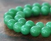 Green Aventurine Beads, 10mm Round - 15 inch Strand - eGR-AV001-10