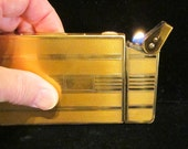 1940s Cigarette Case Lighter Elgin American Case-O-Matic Magic Action Case Lighter Art Deco Very Good to Excellent Working Condition