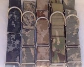 """U.S. Military  Martingale Dog Collar 1"""" And 1.5"""" , Available In U.S. Navy, Air Force, Army, And Marines Digital Camo"""
