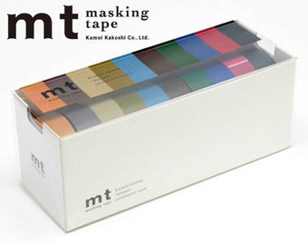 MT Washi Masking Tapes Set of 10 - Dark Colors