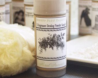 Dusting Powder SAMPLER - 5 Scent COLLECTION (Floral Favorites) Reusable Flip Top Container