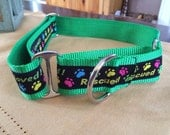 "Badger is Rescued & Loved 1.5"" Martingale Collar"