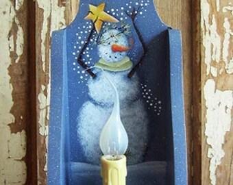 Winter Magic Wall Shelf Snowman Tole Painting Pattern