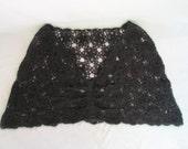 Vintage Black Cape Knitted
