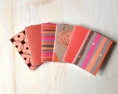 Small Notebooks: Fall Colors, 6 Tiny Journals Set, Stocking Stuffer, For Her, Orange, Party Favors, Wedding, Journals, Mini Journals, Small