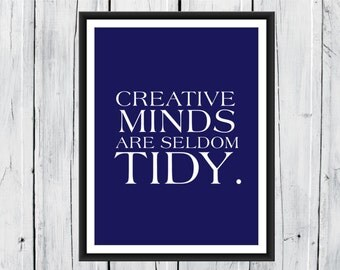 Creative Minds Print - Motivational Print - Choose Colors and Size