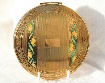 FREE SHIPPING Vintage KIGU Powder Compact Mirror 1950s