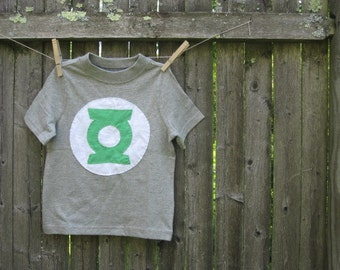 Going Green Hero Kids T shirt Green Lantern