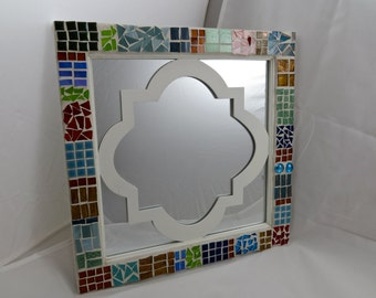 Colorblock Mosaic Mirror