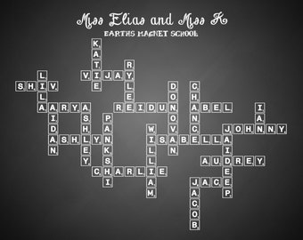 Teacher's Gift Personalized/Custom Class Tree (Scrabble Tiles) Digital Delivery