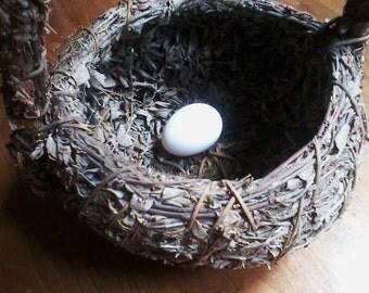 Primitive Bird's Nest Basket