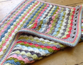 Katie's Woven Blanket - Instant Download PDF Crochet Pattern