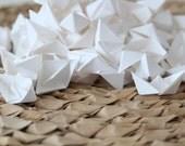 Mini Origami White Boats x 100 - Paper Goods